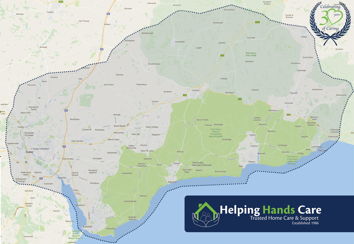 areas covered by Helping Hands Care